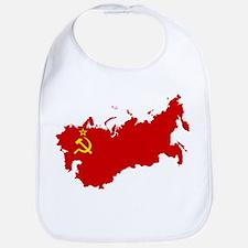 Red USSR Soviet Union map Communist Country Ru Bib