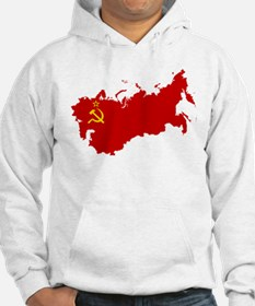 Red USSR Soviet Union map Commun Jumper Hoody