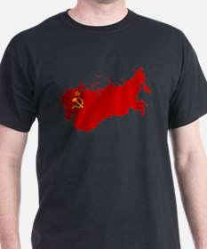 Red USSR Soviet Union map Communist Countr T-Shirt