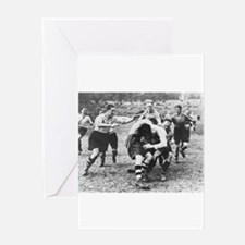 rugby art Greeting Cards