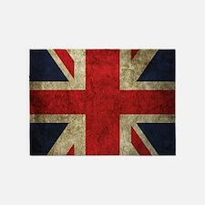 Grunge Flag Of England 5'x7'Area Rug