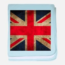 Grunge Flag Of England baby blanket