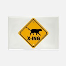 Cat X-ing Rectangle Magnet (10 pack)