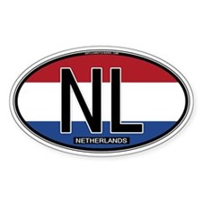 Netherlands Oval Colors Oval Stickers