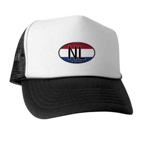 Netherlands Oval Colors Trucker Hat