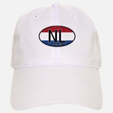 Netherlands Oval Colors Baseball Baseball Cap