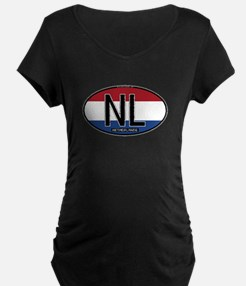 Netherlands Oval Colors T-Shirt