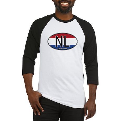 Netherlands Oval Colors Baseball Jersey