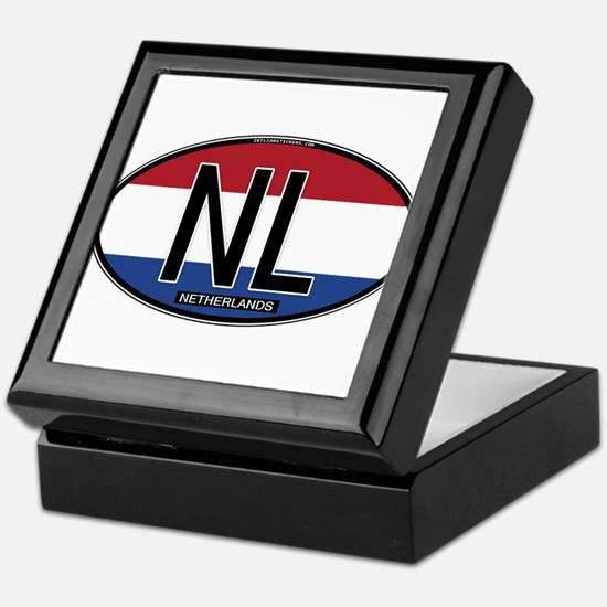 Netherlands Oval Colors Keepsake Box