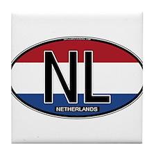 Netherlands Oval Colors Tile Coaster
