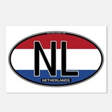 Netherlands Oval Colors Postcards (Package of 8)
