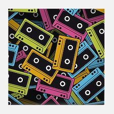Audio Cassettes Tile Coaster