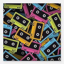 "Audio Cassettes Square Car Magnet 3"" x 3"""
