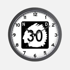 Highway 30, North Dakota Wall Clock