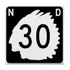 Highway 30, North Dakota Tile Coaster