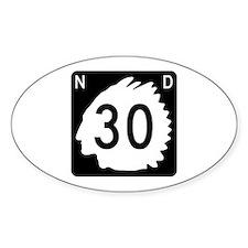 Highway 30, North Dakota Decal