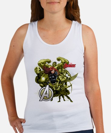 The Avengers Black Widow: Green G Women's Tank Top
