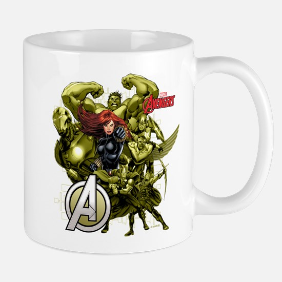 The Avengers Black Widow: Green Guys Mug