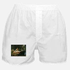 Lady of Shalott by JW Waterhouse Boxer Shorts