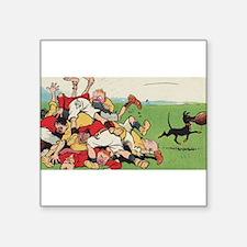 rugby art Sticker