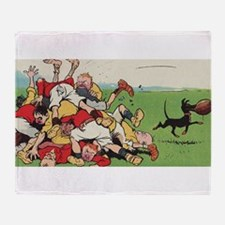 rugby art Throw Blanket