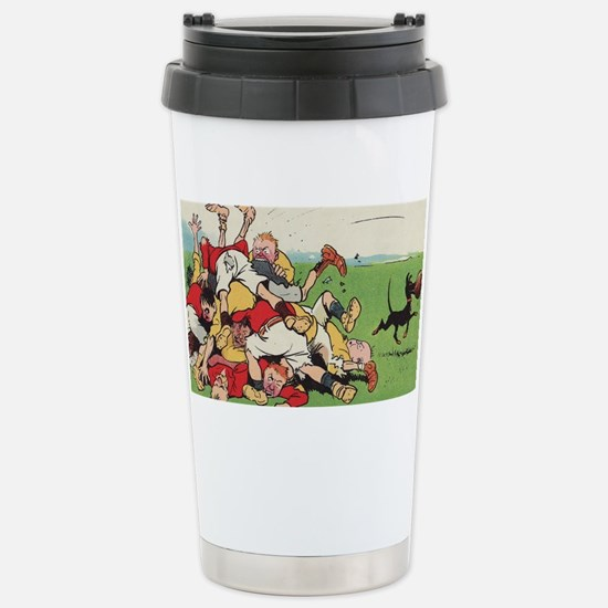 rugby art Travel Mug