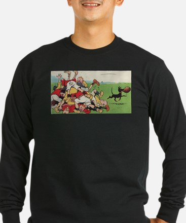 rugby art Long Sleeve T-Shirt