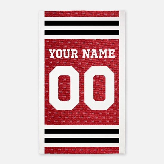 Personalize Hockey Sports Area Rug