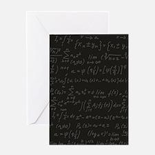 Scientific Formula On Blackboard Greeting Cards