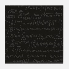 Scientific Formula On Blackboard Tile Coaster