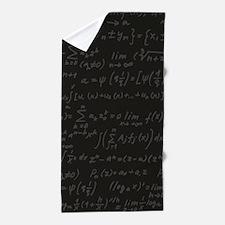 Scientific Formula On Blackboard Beach Towel