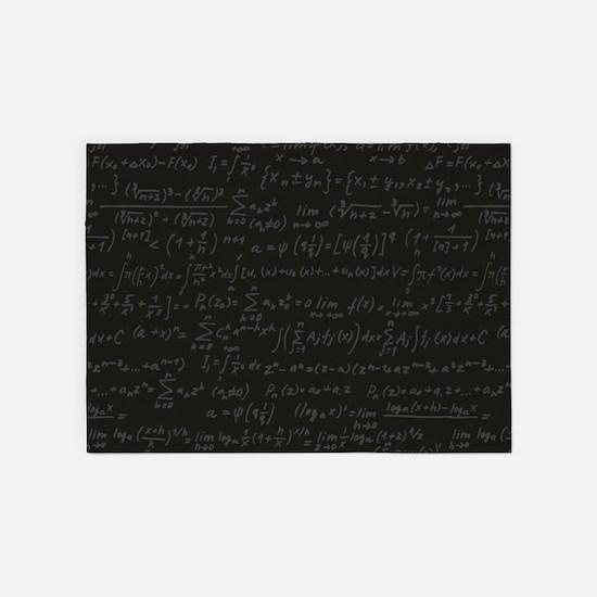Scientific Formula On Blackboard 5'x7'Area Rug