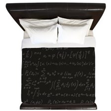 Scientific Formula On Blackboard King Duvet