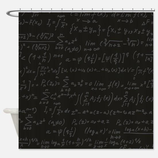 Scientific Formula On Blackboard Shower Curtain