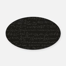 Scientific Formula On Blackboard Oval Car Magnet