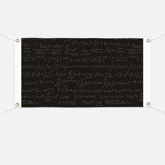 Scientific Formula On Blackboard Banner
