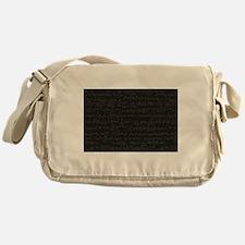 Scientific Formula On Blackboard Messenger Bag