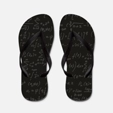 Scientific Formula On Blackboard Flip Flops