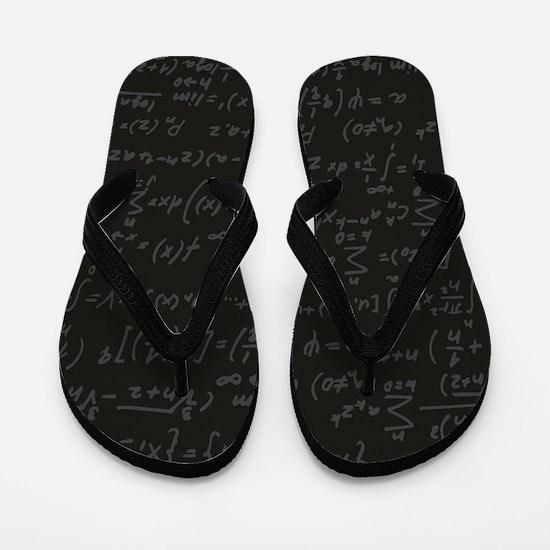 Scientific Formula On Blackboard Flip Flops