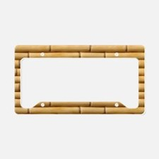 Bamboo Sticks License Plate Holder