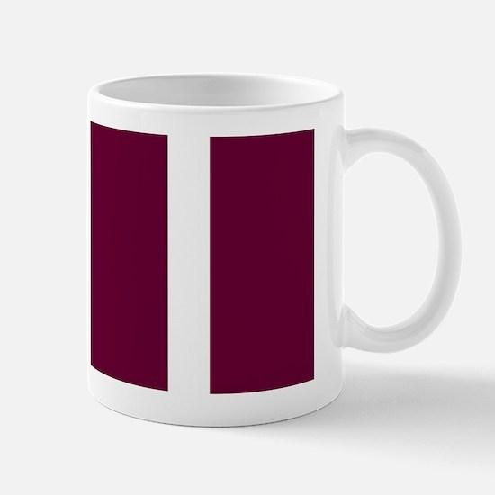 Bold Dark Red Stripe Mugs