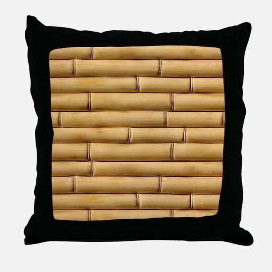 Bamboo Sticks Throw Pillow