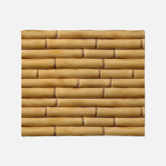 Bamboo Sticks Throw Blanket