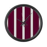 Burgundy Giant Clocks