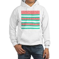 Summer bright coral mint waterme Hoodie