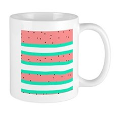 Summer bright coral mint watermelon str Mug