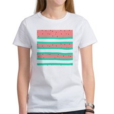 Summer bright coral mint watermelo Tee