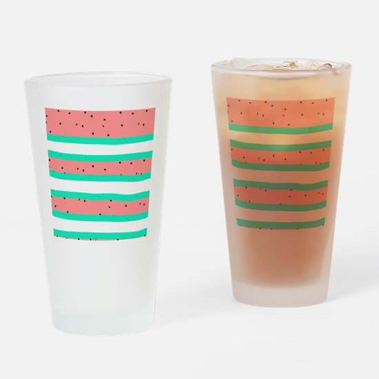 Summer bright coral mint watermelon Drinking Glass
