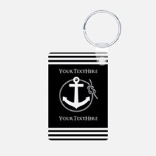 Personalized Black and Whi Keychains
