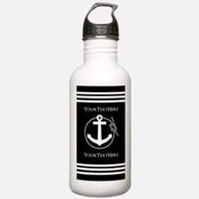 Personalized Black and Water Bottle